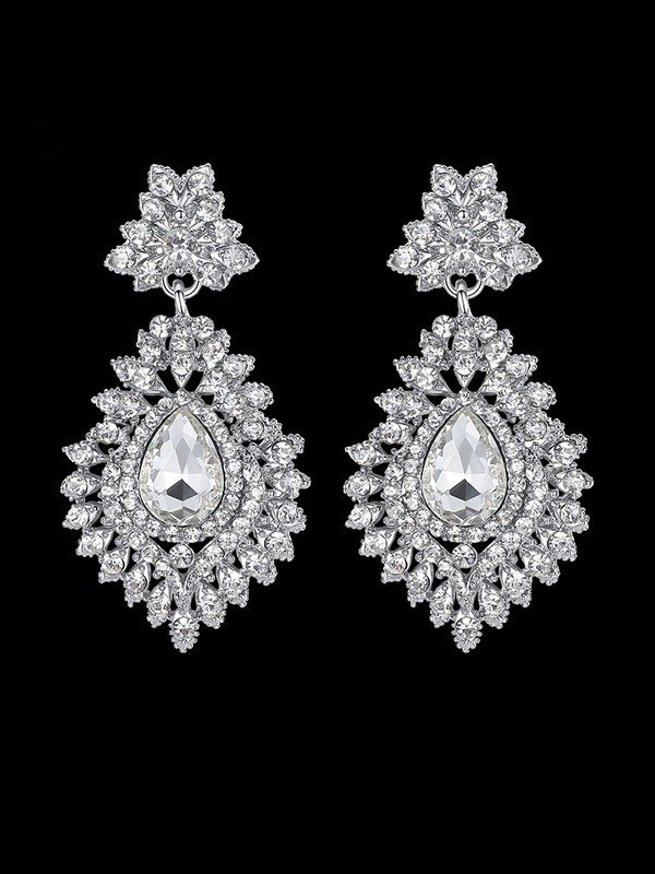 Beautiful Crystal Hot Sale Earrings For Wedding Bridal