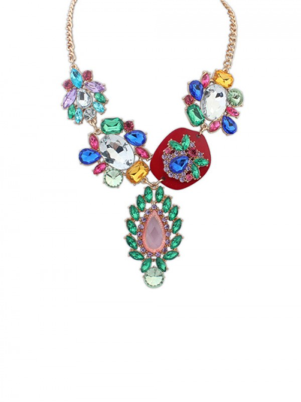 Occident Gorgeous Multicolor Trendy Hot Sale Necklace